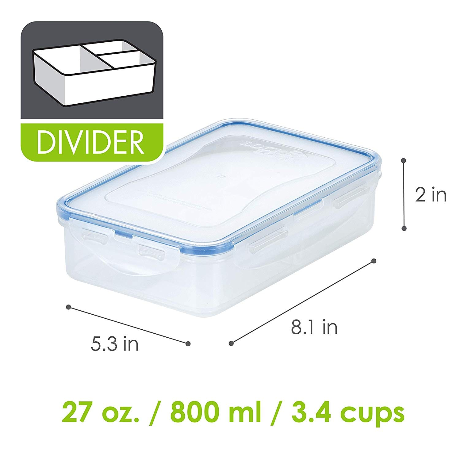 27-Oz Lock & Lock Food Storage Container w/ Divider $3.77 + Free Shipping w/ Prime