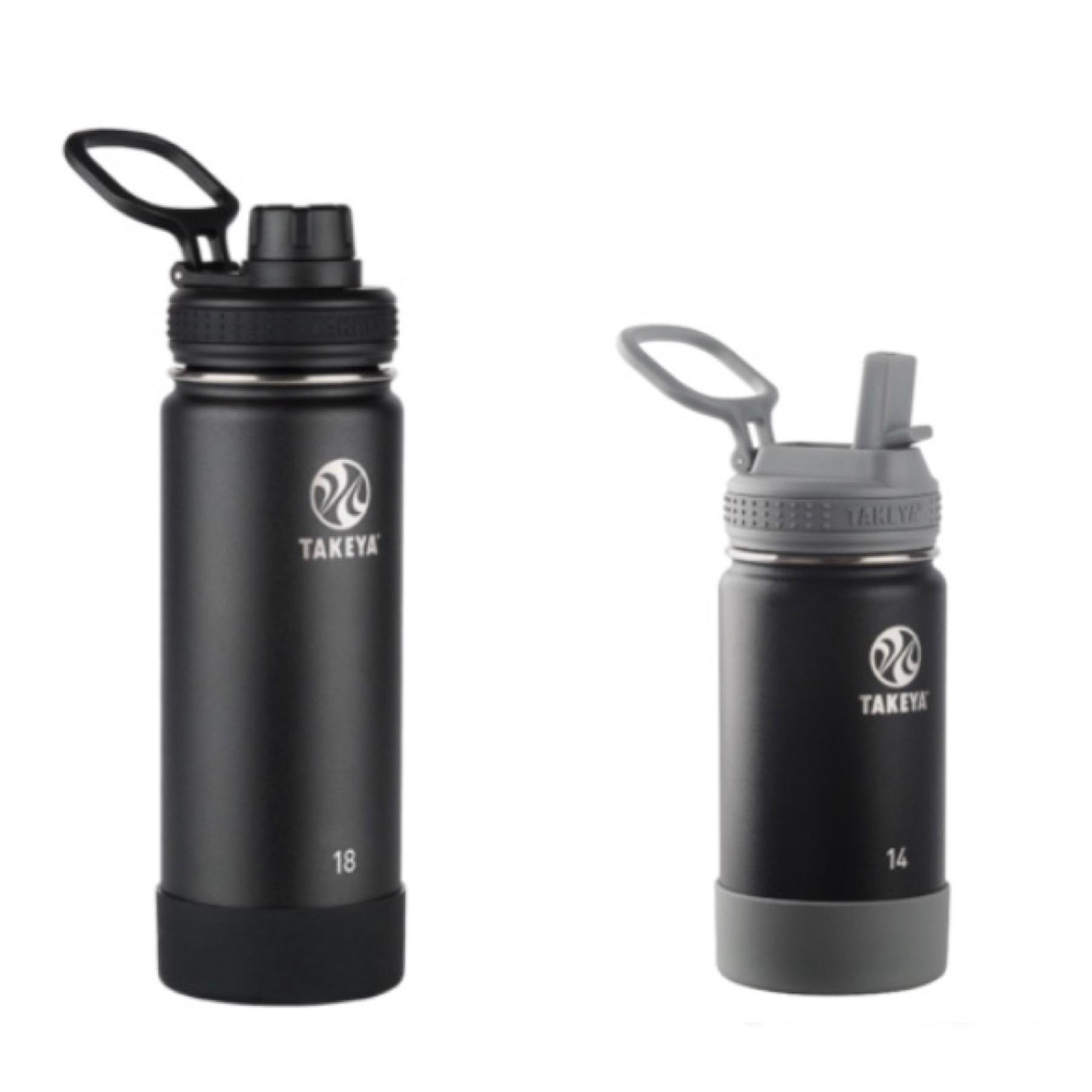 Takeya Stainless Steel Water Bottles: B1G1 Free: 14-oz Water Bottle w/ Straw Lid + 18-oz Actives Water Bottle (onyx) $25 ($12.50 each) & More + Free Shipping