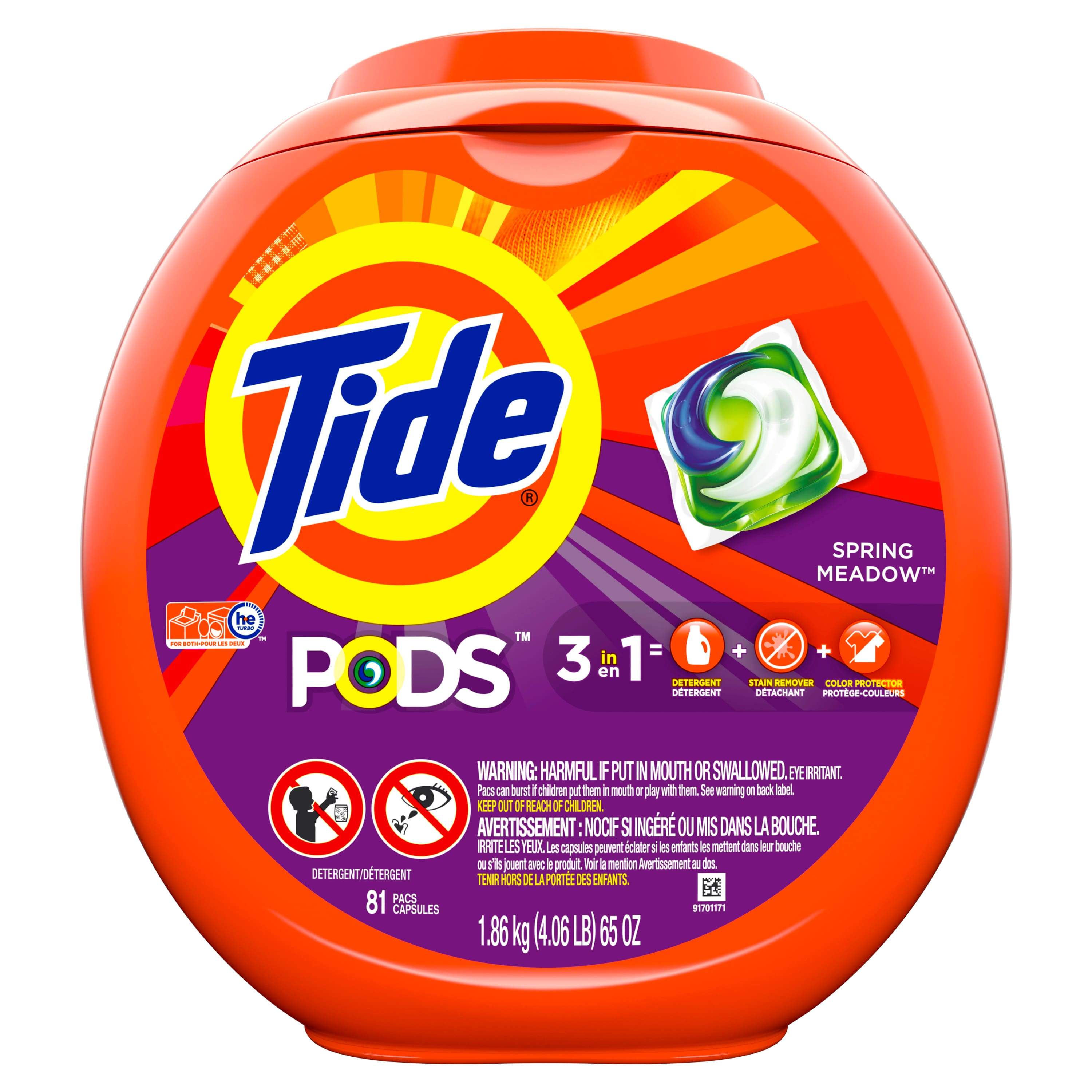 81-Count Tide Pods HE Laundry Detergent Pacs (various scents) $14.98 w/ S&S + Free S&H
