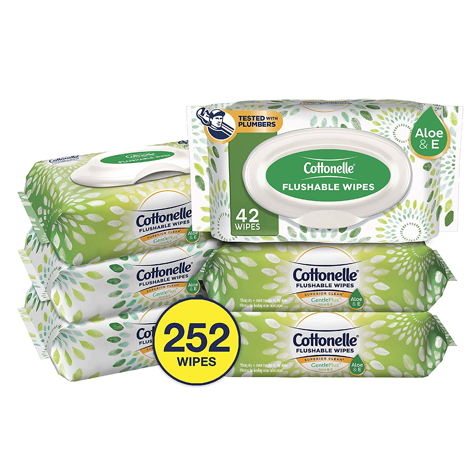 6-Pack 42-Count Cottonelle GentlePlus Flushable Wipes w/ Aloe & Vitamin E (252 Total Wipes) $7.85 w/ S&S + Free Shipping