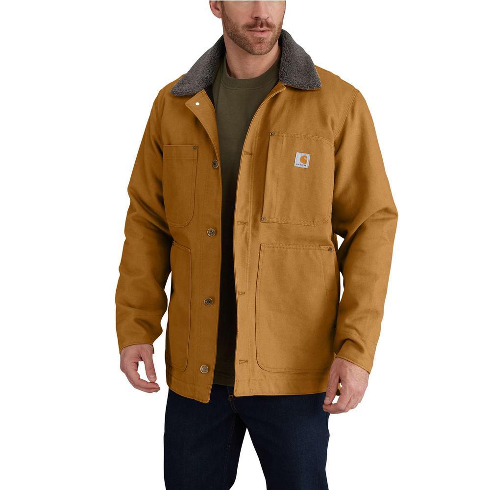Carhartt Men's Cotton Full Swing Chore Coat (carhartt brown, black) $55