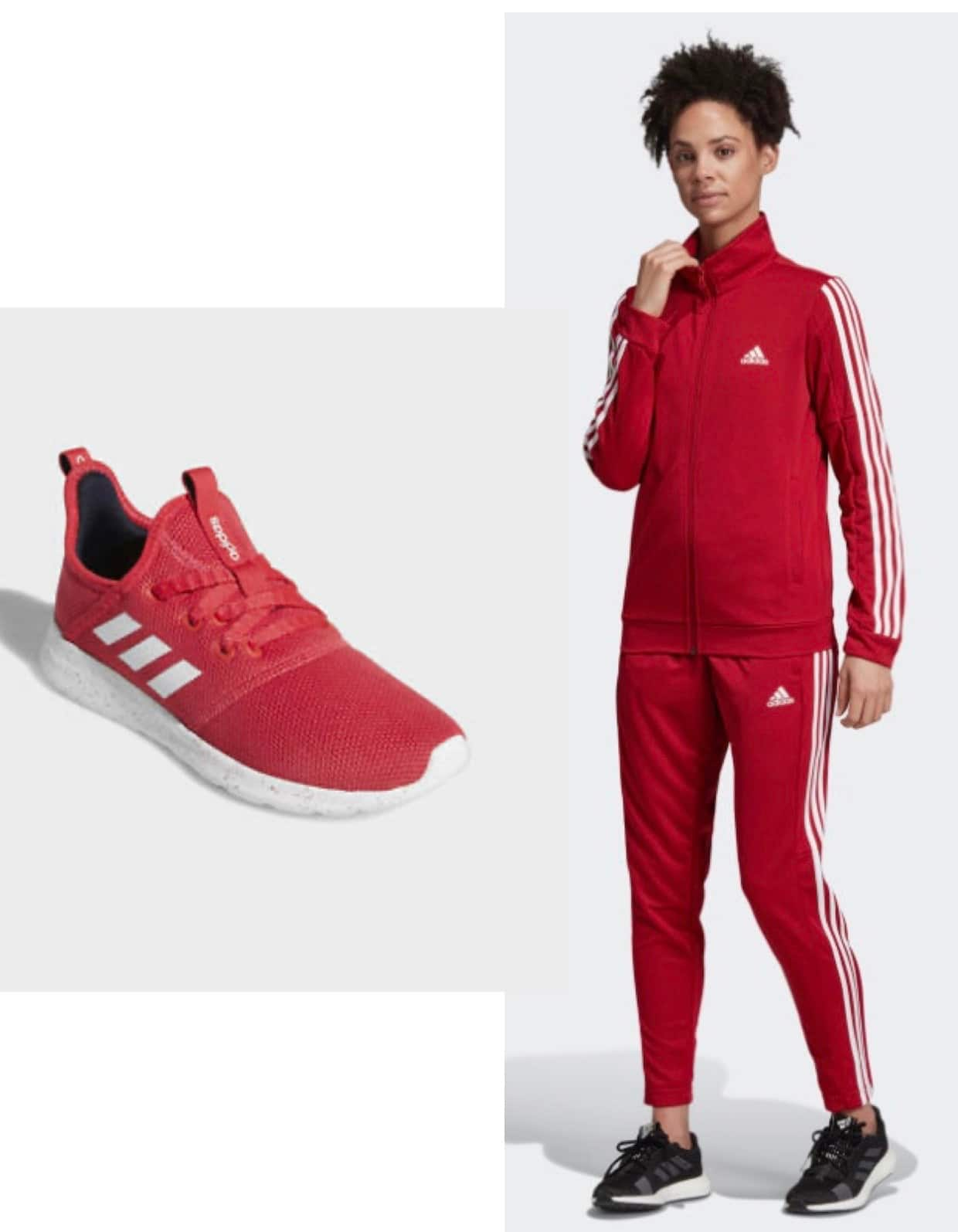 adidas Women's Team Sports Track Suit (Jacket w/ Pants) + adidas Women's Cloudform Pure Shoes $57.50 & More + free shipping