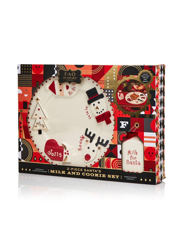 2-Piece Fao Schwarz Santa's Milk and Cookie Set $7 + Free Shipping