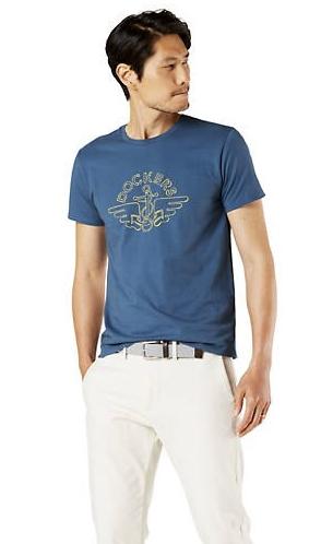Dockers Sale: Men's Logo Tee Shirt $6, Men's Classic Fit Comfort Khaki Pleated Pants $15, 3-Pair Men's Ultimate Crew Socks $4.80 & More + FS on $75+