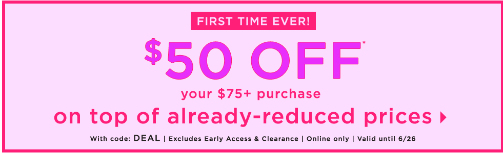 Loft Outlet: Select Women's Apparel and Accessories $50 Off $75 + Free Shipping on $49+