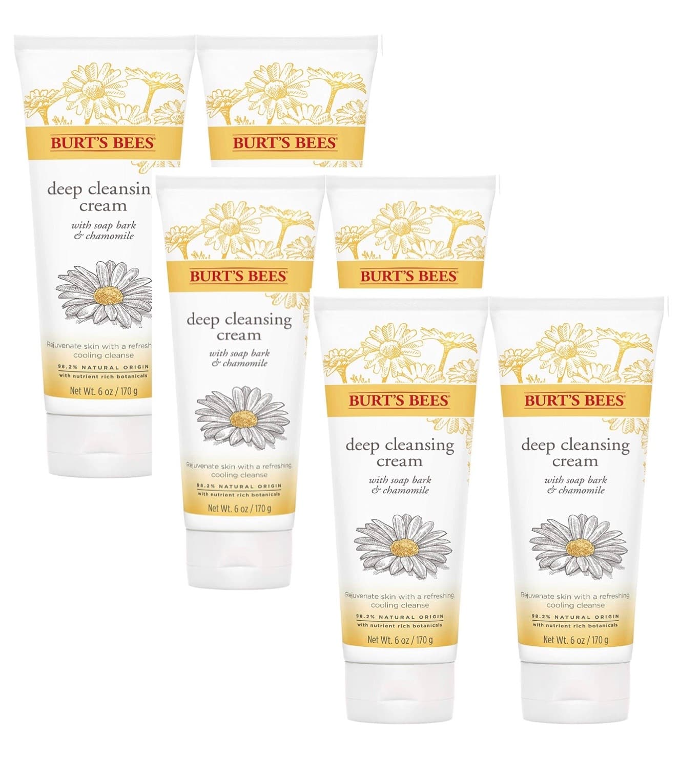 6-Ounce Burt's Bees Soap Bark and Chamomile Deep Cleansing Cream 6 for $24.75 ($4.13 each) + Free Shipping w/ Prime or on orders $25+