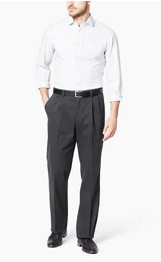 Dockers Men's Relaxed Fit Easy Stretch Khaki Pants $15, Dockers Men's Straight Fit Khaki Pants $20 & More + FS on $75+