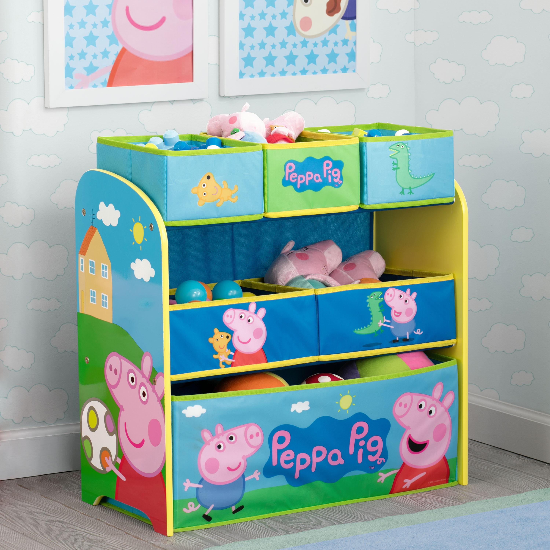6-Bin Peppa Pig Toy Organizer by Delta Children $22.50 + Free S/H on $35+ or FS w/ Prime