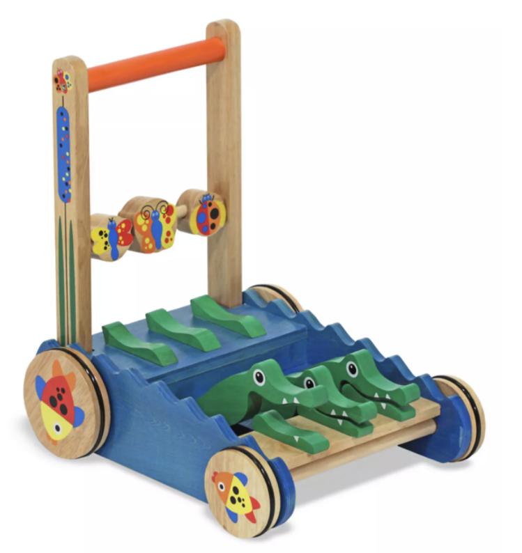 Melissa & Doug Toys: Chomp & Clack Alligator Push Toy $25, Cutting Food Box $10 + Free Shipping
