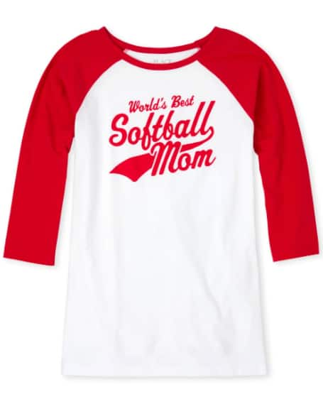 The Children's Place: Women's Matching Family Graphic Tees (baseball mom, softball mom, more) $2 + Free Shipping