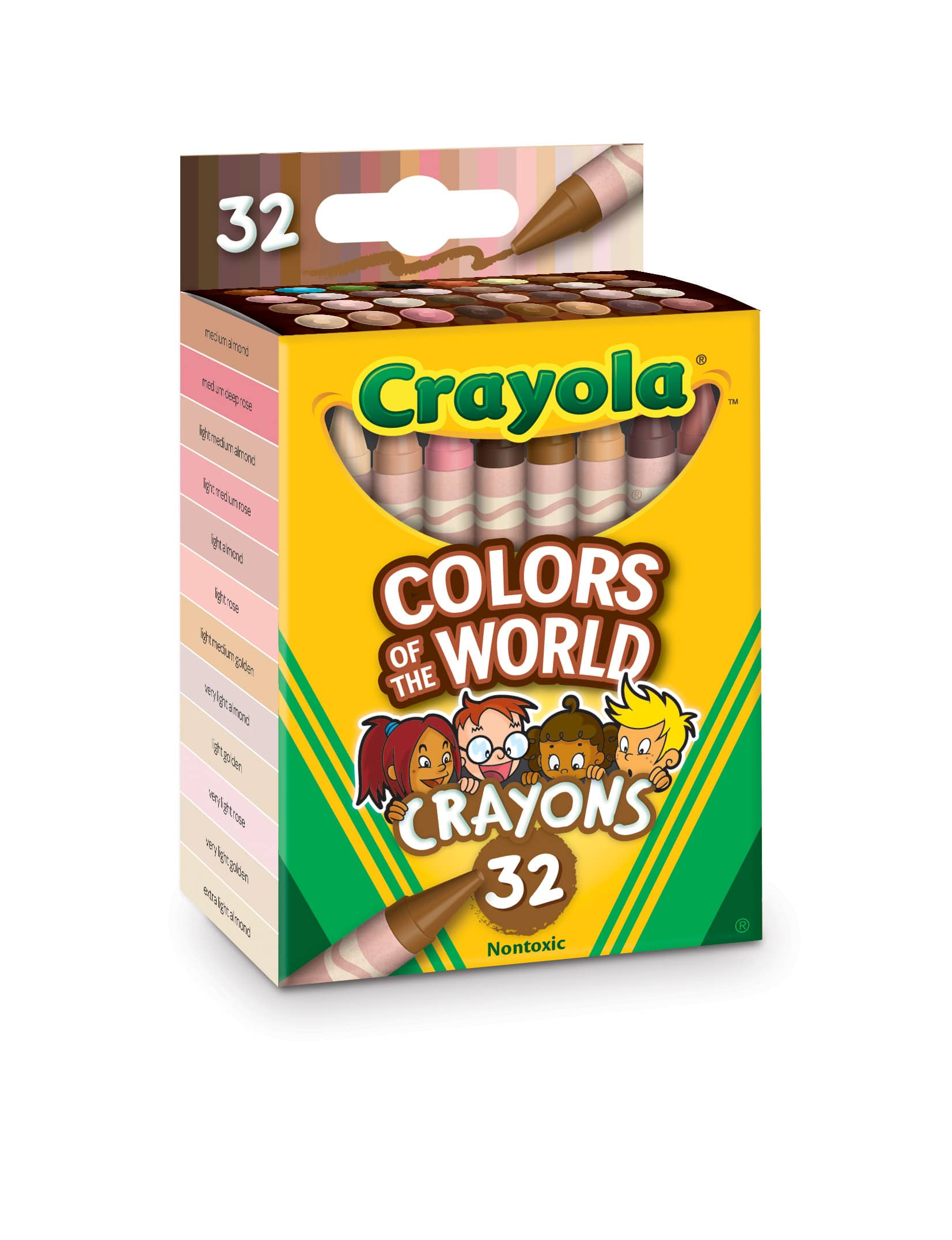 48-Pages Crayola Colors of the World Coloring Book 2 for $2 ($1 each), 32-Pack Crayola Colors of the World Crayons 2 for $3.54 ($1.77 each) + FS on $35+