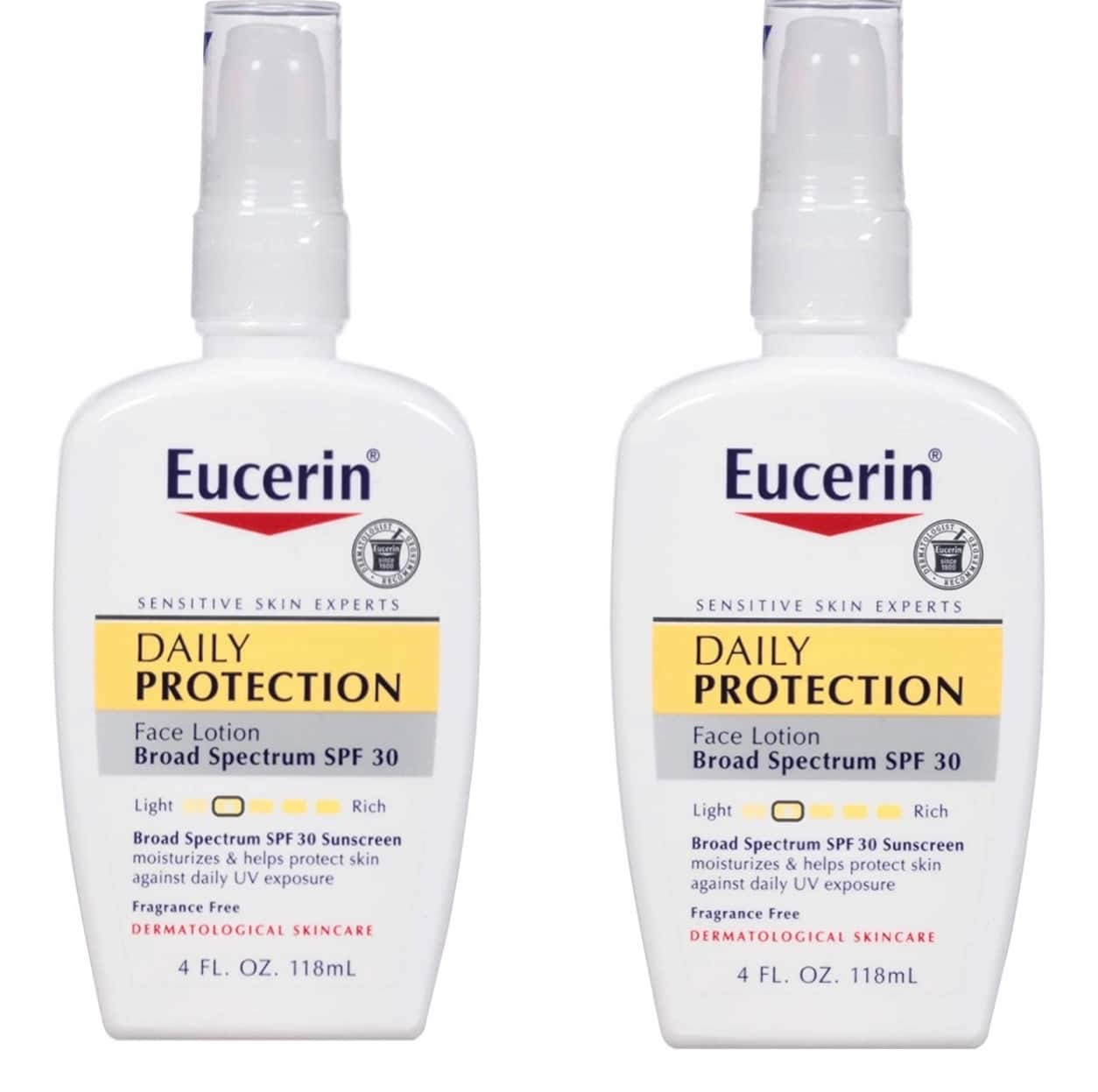 4-Oz Eucerin Daily Protection Face Lotion w/ Spectrum SPF 30 (sensitive/dry skin) 2 for $10.61 ($5.30 each) w/ S&S + Free Shipping w/ Prime or on $25+