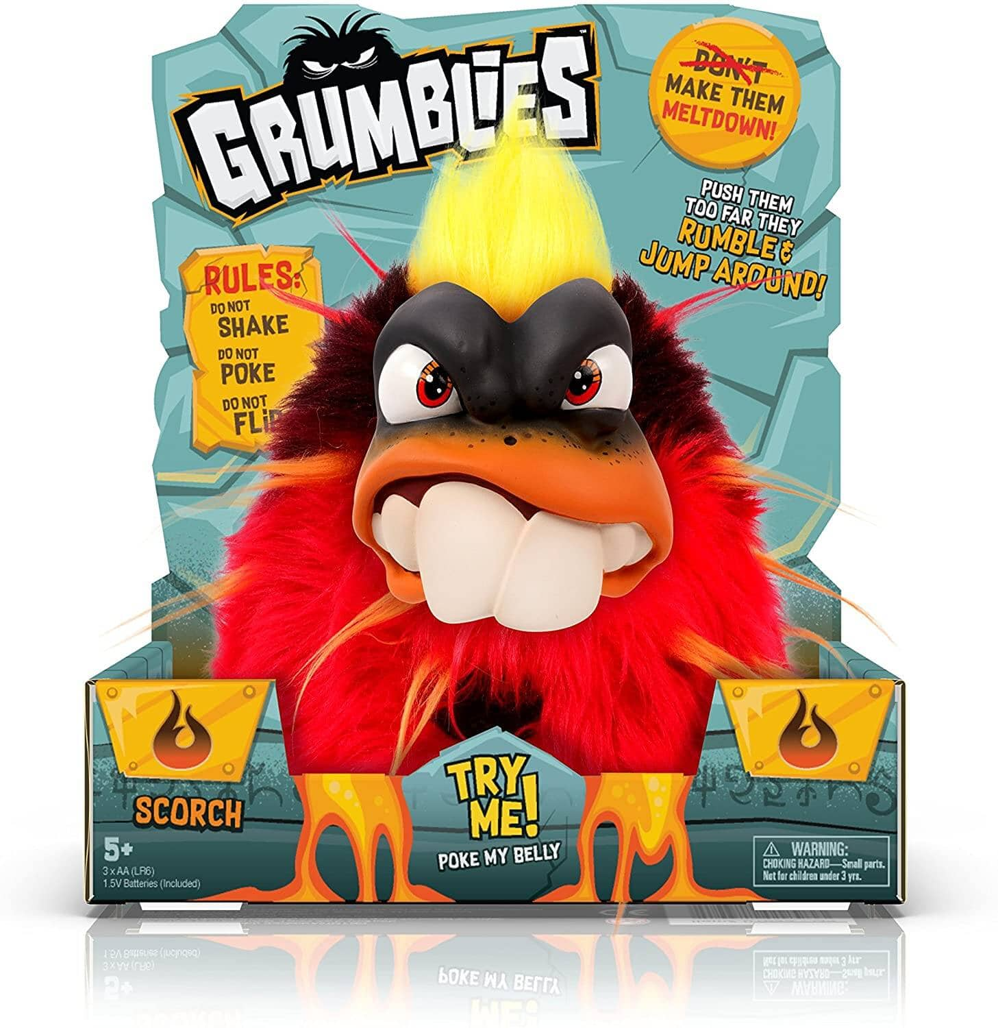 Grumblies Scorch Kids' Toy (red) $6.25 + Free Shipping w/ Prime or on $25+