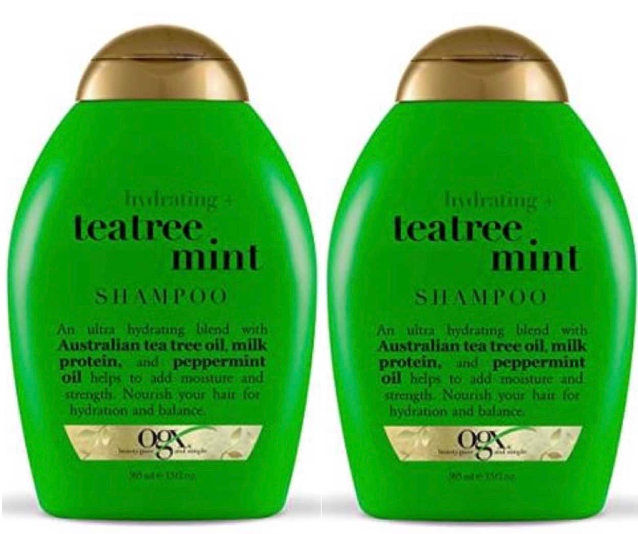 13-Oz OGX Hydrating + Tea Tree Mint Shampoo 2 for $8.05 ($4.02 each) + Free Shipping w/ Prime or on $25+