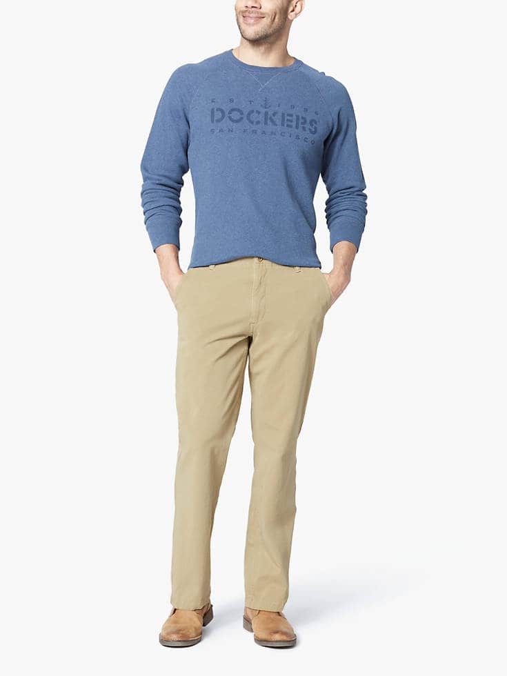 Dockers Sale: Men's Downtime Khaki Pants Straight Fit $21, Men's The Perfect Short $17.50, More + Free Shipping