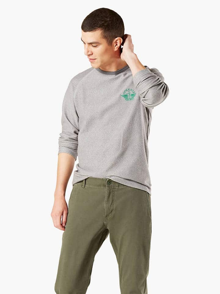 Dockers Men's Logo Crew Sweatshirt $15 + Free Shipping