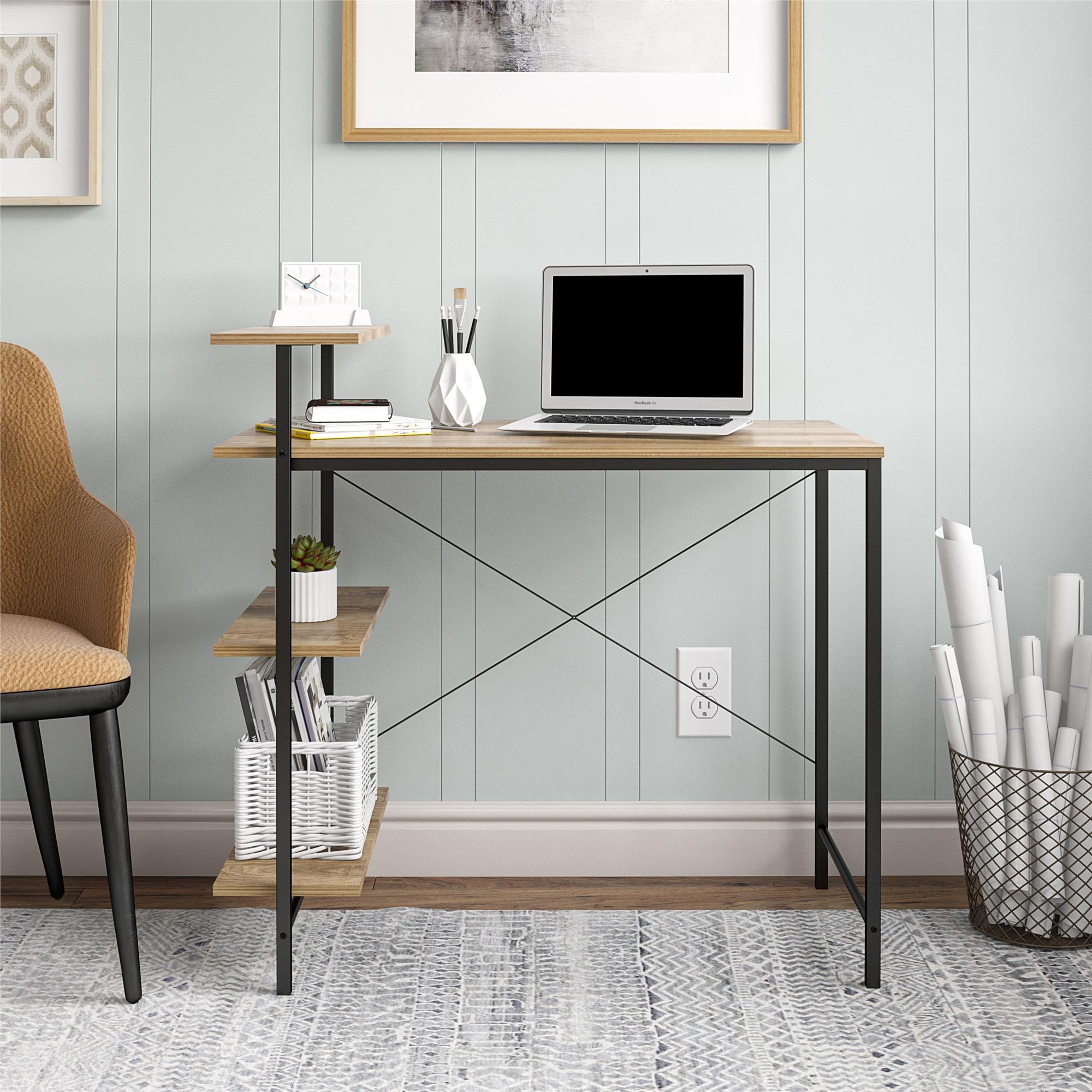 Mainstays Side Storage Desk (Golden Oak) $40 + Free Shipping