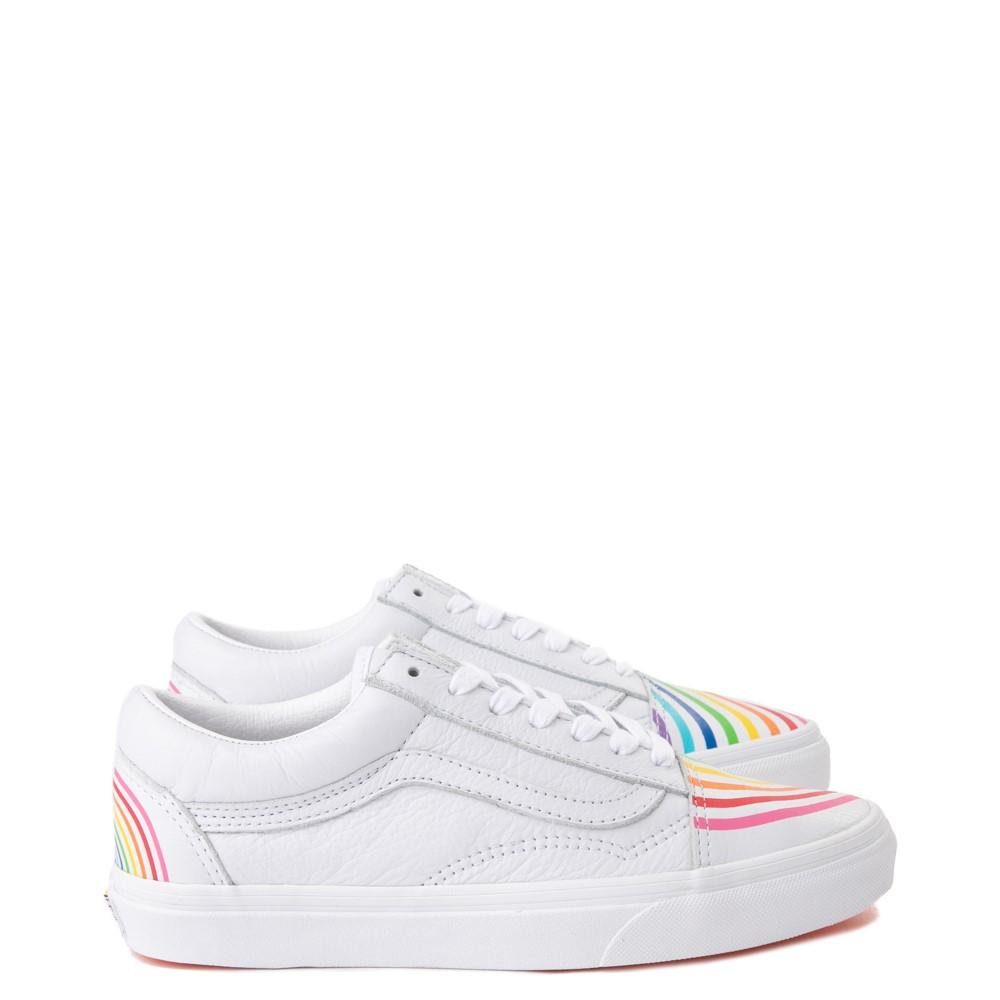 Vans X Flour Shop Women's Old Skool Leather Rainbow Skate Shoe $25 + Free Shipping