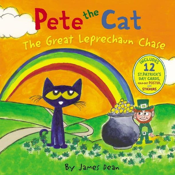 Pete the Cat: The Great Leprechaun Chase w/ 12-Piece St. Patrick's Day Cards, Posters & Stickers $6 + FS w/ Walmart+ or on $35+ or FS w/ Prime or on $25+
