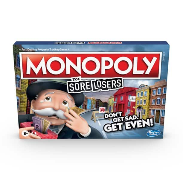 Monopoly For Sore Losers Board Game $12 + 2.5% Slickdeals Cashback (PC Req'd) + Free Curbside Pickup at Target or FS w/ $35 or FS w/ Prime or $25+