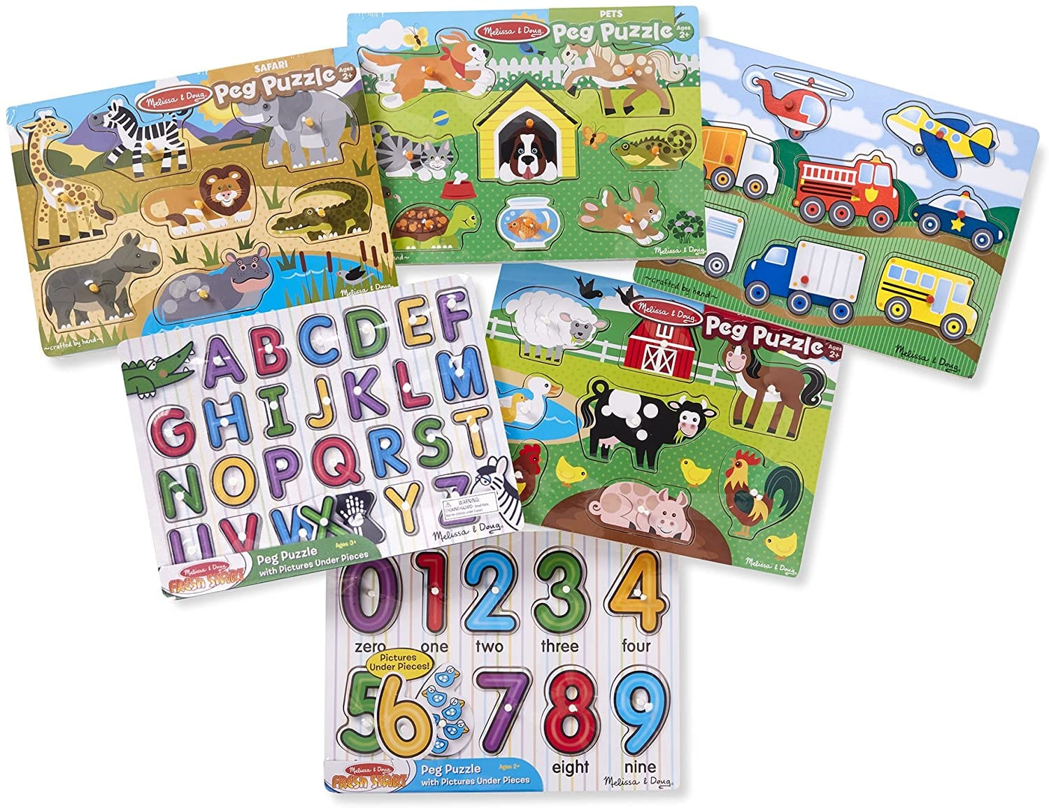 6-Pack Melissa & Doug Wooden Peg Puzzles $25, 100-Piece Melissa & Doug Magnetivity Magnetic Building Play Set $38.90 + Free Shipping w/ Prime or on $25+