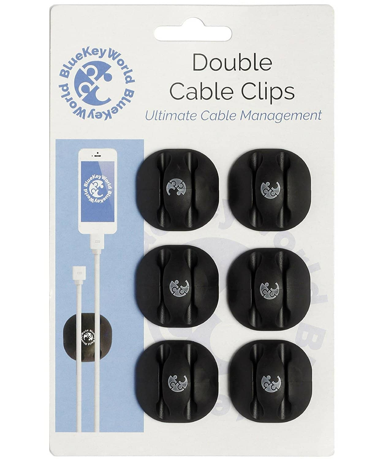 Cable Clips, Cord Holders - Clutter Free Desk in Minutes, No More Searching for Wires on the Floor - Cord Management and Organizer, $7.11