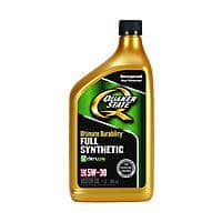 Menards Deal: Quaker State FULL SYNTHETIC motor oil in 4 different weights, 1 qt bottles $1.09 each A/R at MENARDS, limit 18