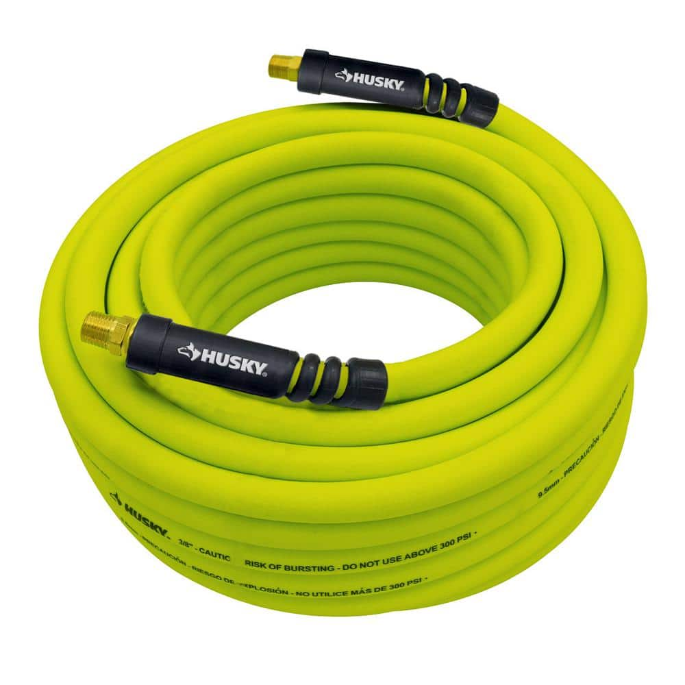 easy flexible garden hose home depot. 50  ft air compressor hose hybrid HUSKY 3 8 green 10 98 Home