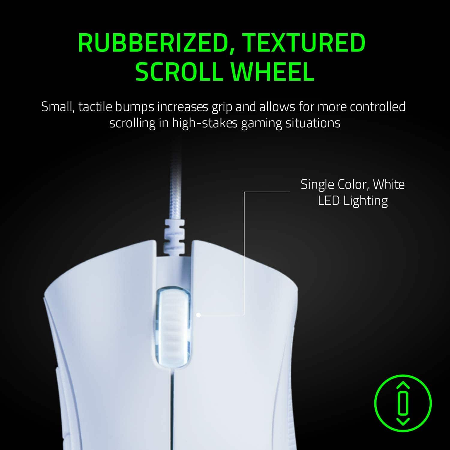 Razer DeathAdder Essential Gaming Mouse: 6400 DPI Optical Sensor - 5 Programmable Buttons - Mechanical Switches - Rubber Side Grips - White $23.99