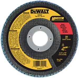 DEWALT Flap Disc, Zirconia, 4-1/2-Inch x 7/8-Inch, 80-Grit (DW8309) - $3.49