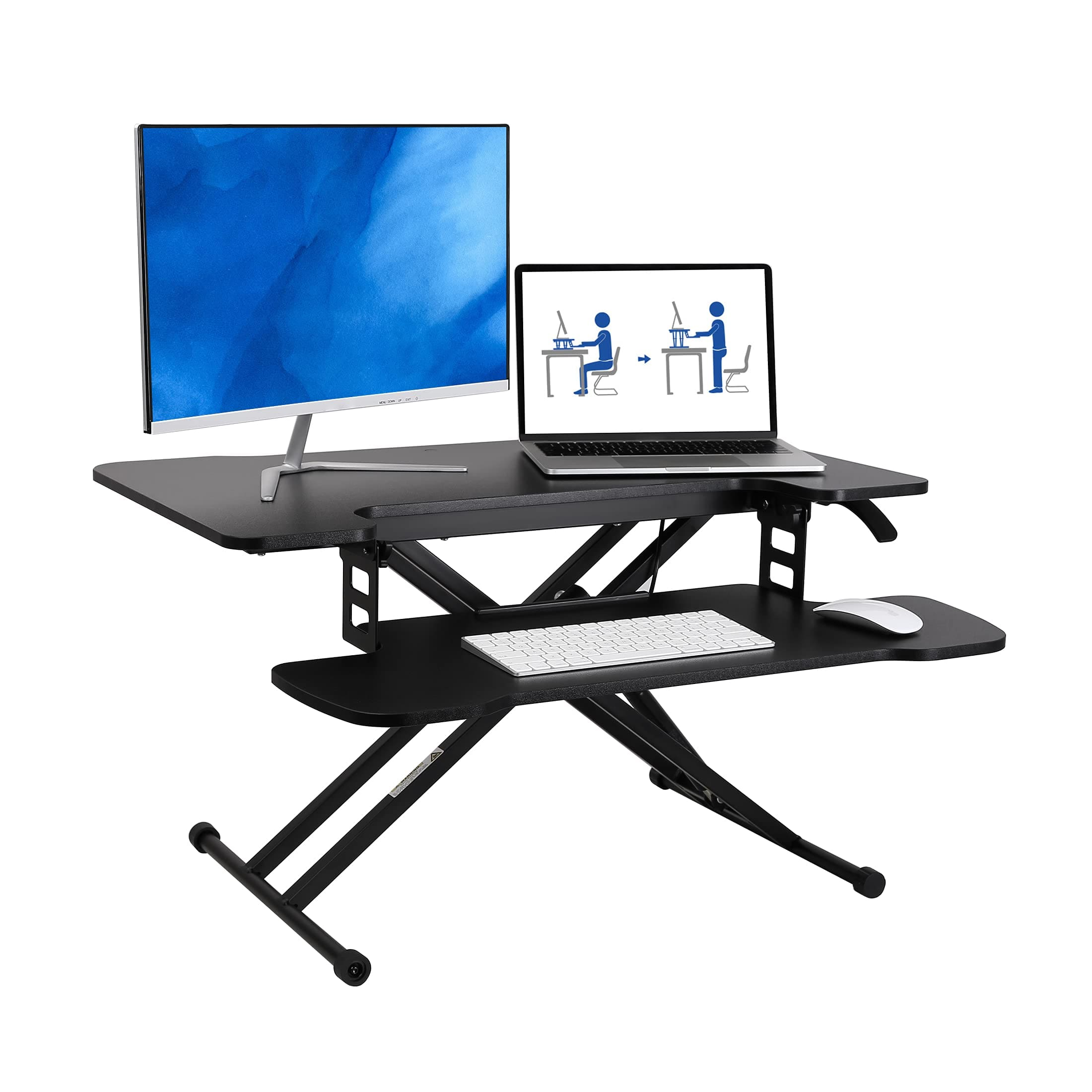 FLEXISPOT 31 inch Standing Desk Converter Height Adjustable $59.99 after $60 off coupon at Amazon