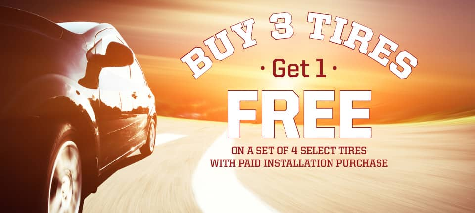 Cooper Tires Buy 3 Get 1 Free Plus Stackable Cooper Rebate (Additional $70 or $50) @ Big O Tires