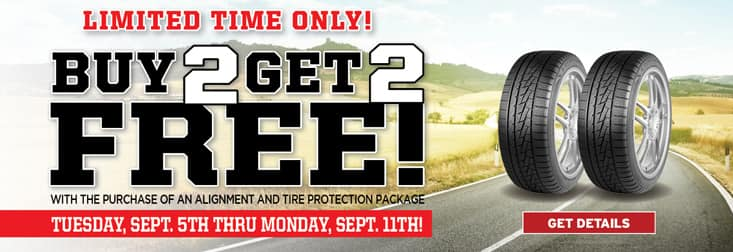 Southern California Big O Tires Stores - Buy 2 Get 2 Free Tire Sale