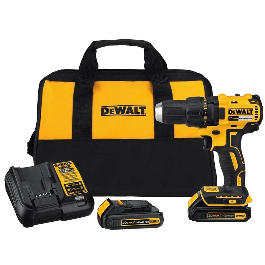 DEWALT 20-Volt Max 1/2-in Brushless Cordless Drill (Charger Included and 2-Batteries Included) - Lowes