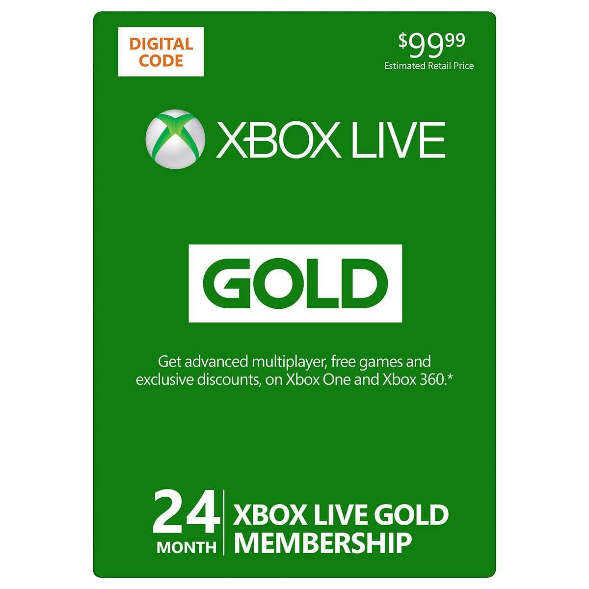2 Years XBOX Live + 2 Years Game Pass Ultimate $95.99+Tax