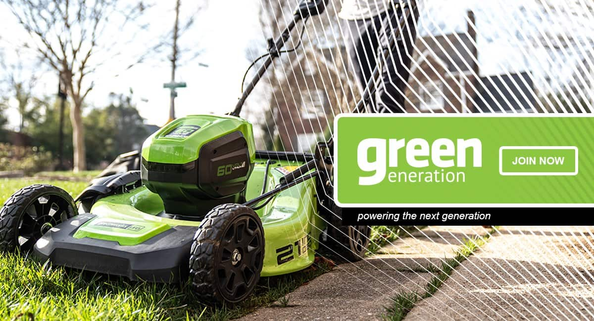 20% off all GreenWorks tools, lawn mowers