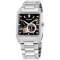 Bulova Classic Automatic Black Dial Stainless Steel Men's Watch 96A194 - eBay FS
