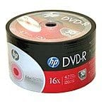 HP DVD+R and DVD-R 50 pack for $5.50 @Frys