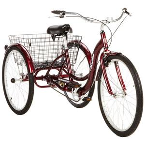 "26"" Schwinn Meridian Adult Tricycle in Cherry, Blue, or Silver - $29.97 @ Walmart - YMMV."