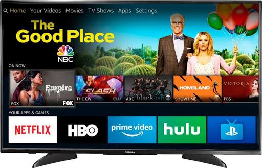 "Toshiba - 43"" 2160p – Smart - 4K UHD TV with HDR – Fire TV Edition 43LF621U19 $209"