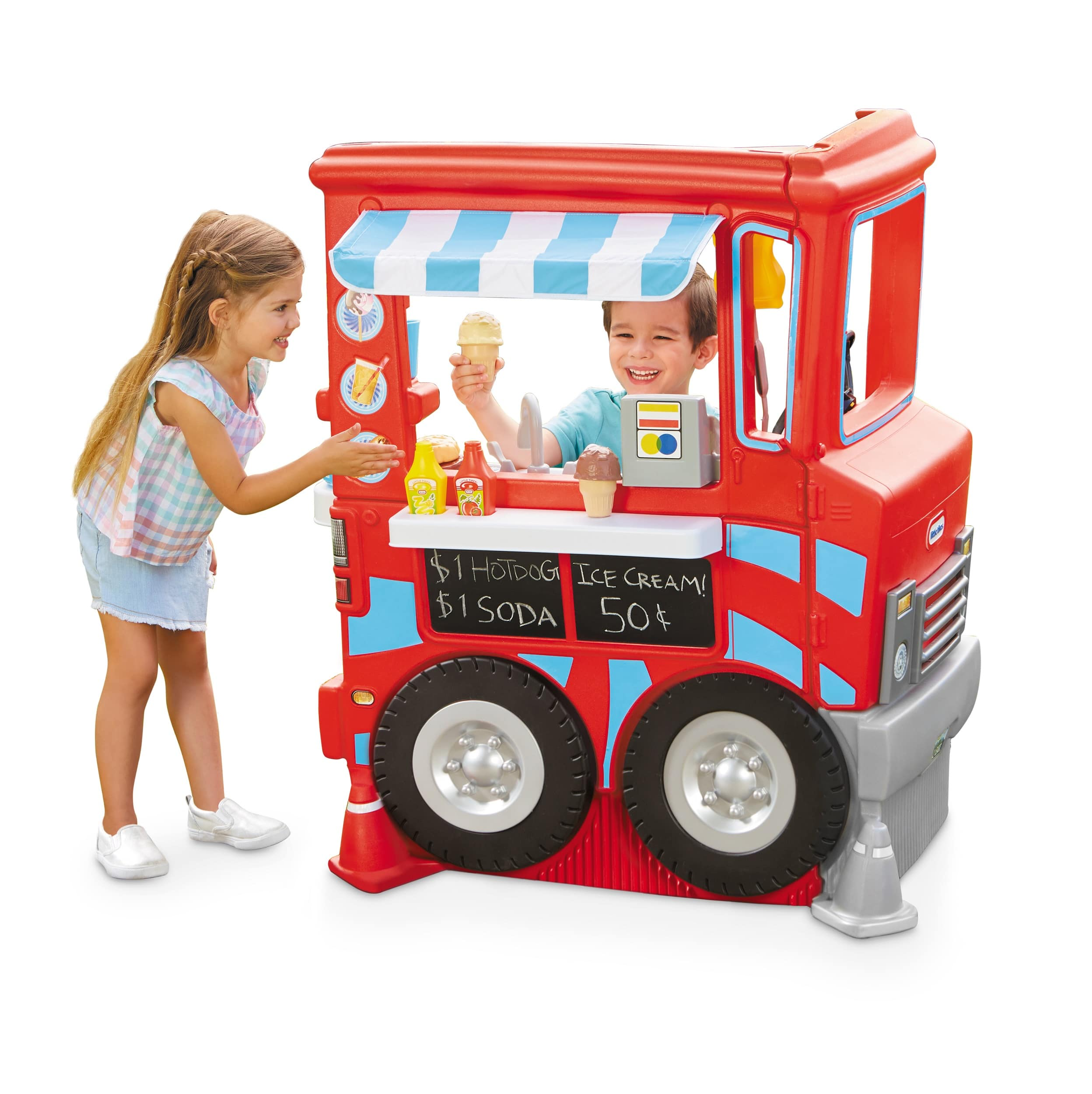 Little Tikes 2-in-1 Food Truck Play Kitchen with 20+ Accessories - $75