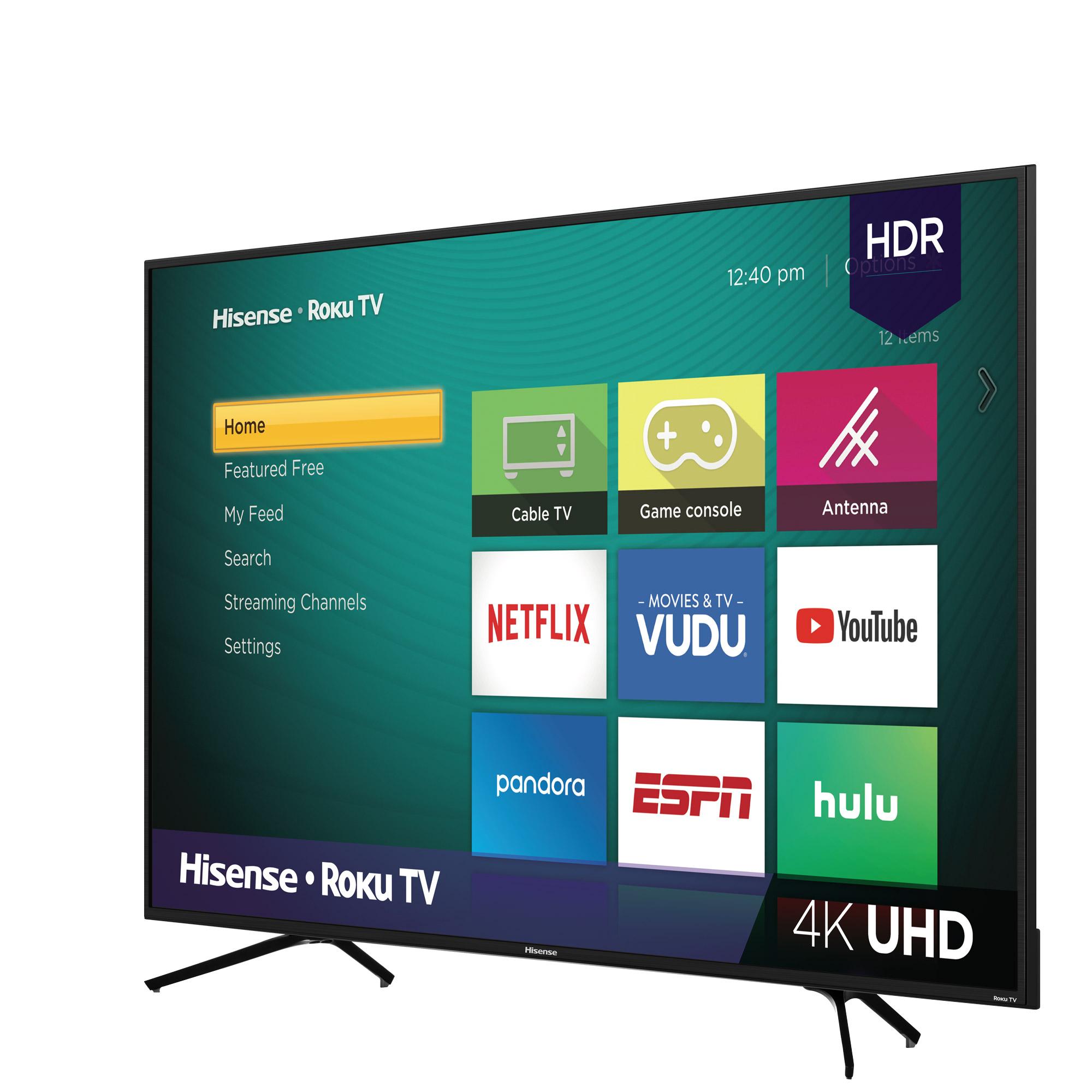"""Hisense 65"""" Class 4K UHD LED Roku Smart TV HDR 65R6E1 $428"""