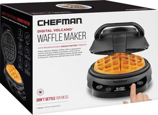 CHEFMAN - Volcano Digital Waffle Maker - Black Model $19.99