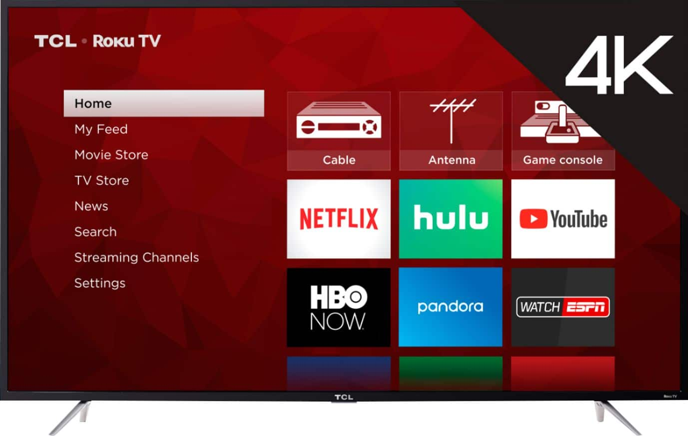 "TCL - 65"" Class - LED - 4 Series - 2160p - Smart - 4K UHD TV with HDR Roku TV $499.99"