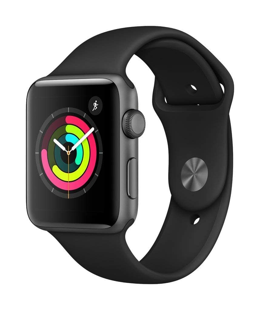 Apple Watch Series 3 (GPS, 42mm) - Space Gray Aluminium Case with Black Sport Band $229