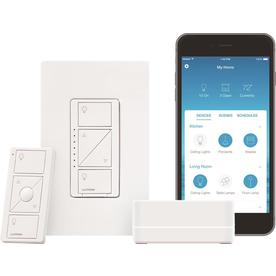 Lutron Caseta Wireless 150-Watt Single-Pole/3-Way White LED Dimmer with Wall Plate $79.94