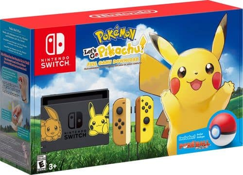Nintendo Switch Pikachu & Eevee Edition with Pokemon: Let's Go Pikachu! Bundle *Back In Stock* Best Buy, Target, Gamestop $399.99