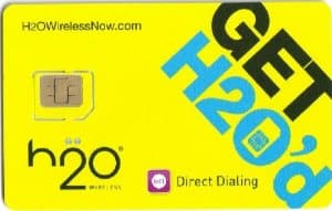 H2O WIRELESS Micro SIM CARD KIT - works w/ AT&T & Other Unlocked GSM Phones, $0.01 + FS