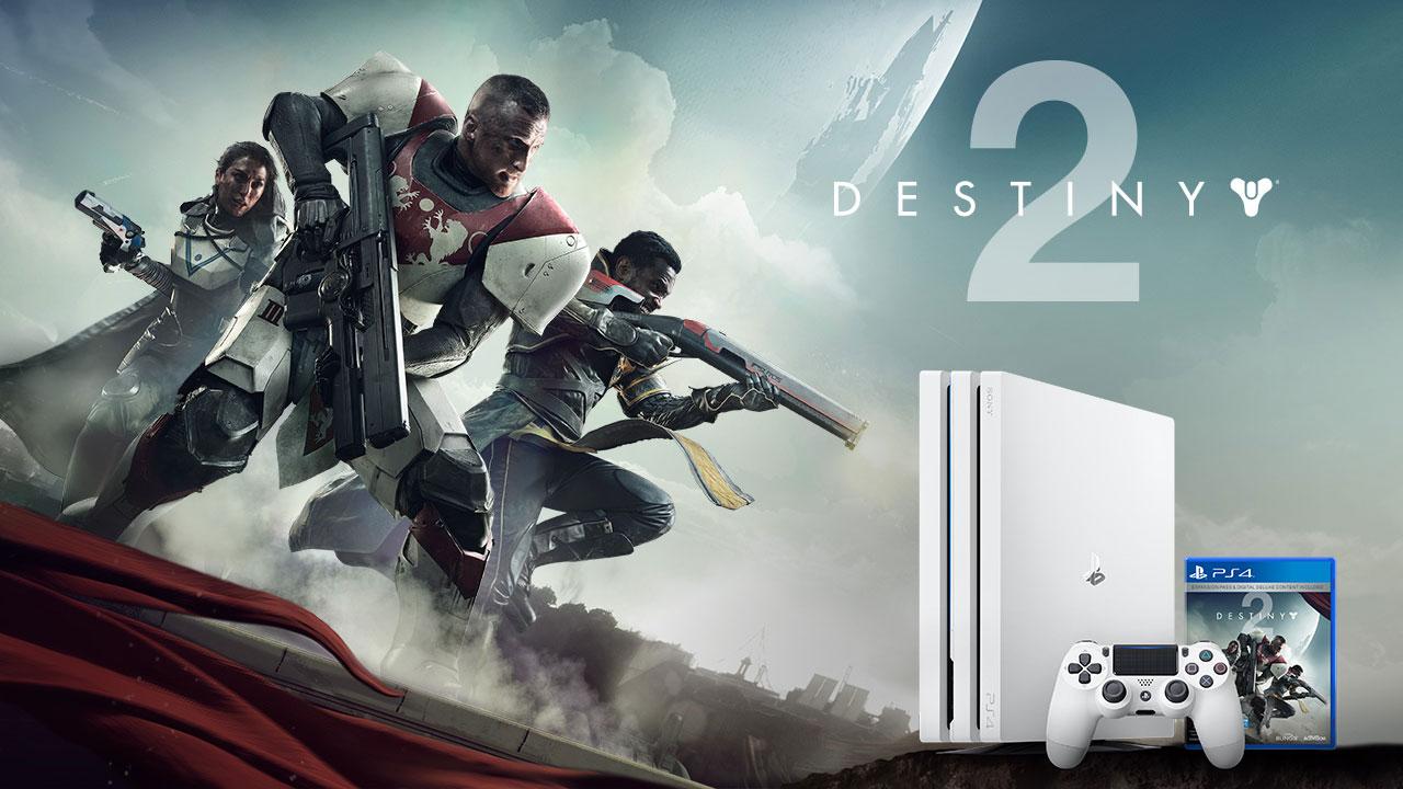 Destiny 2 PS4 Pro White Limited Edition Console Bundle $449 Pre-Order release 9/6/17