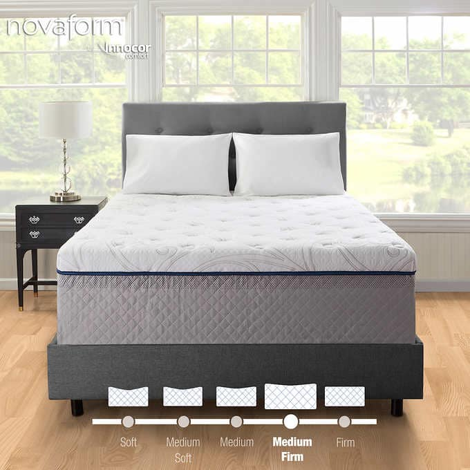 Costco Novaform Comfort Grande Gel Plus Memory Foam Mattress Queen 400 King 560 In